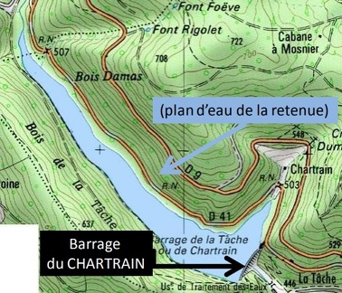 Zone du barrage du Chartrain
